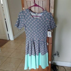Zipper back dress w/tags